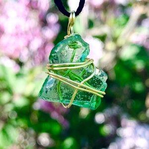 Jewelry - Michigan Mitten Shaped Seaglass Necklace